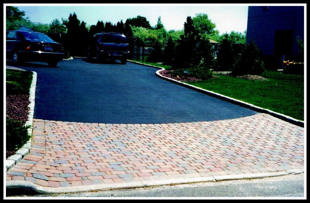 Asphalt Driveway With Paver Border Pictures 39