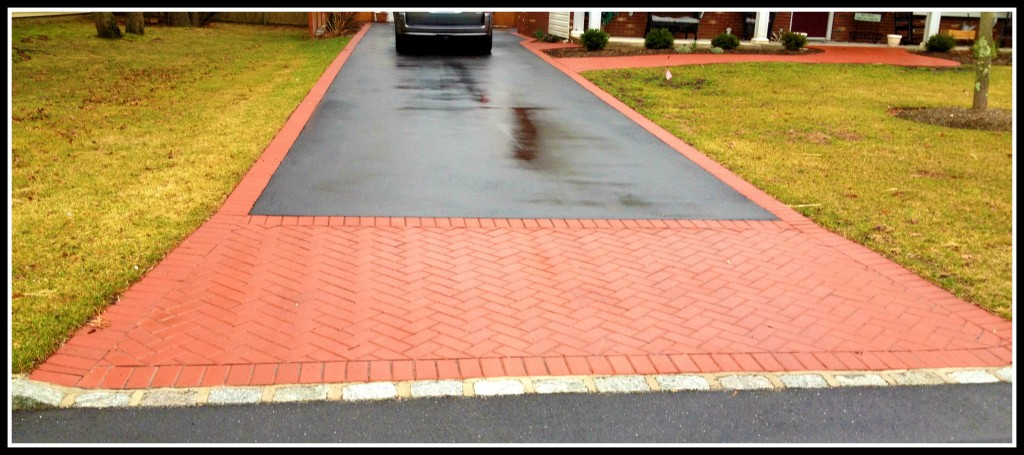 Brick Driveway Edging Rainy Driveway With Brick